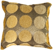 Multicolor Spheres Yellow Decorative Throw Pillow