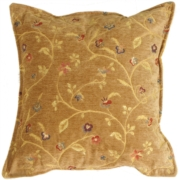Golden Vine Decorative Throw Pillow