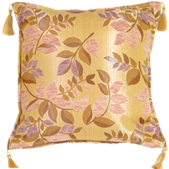 Leaf Textures in Lilac and Rose Throw Pillow