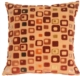 Window Box in Red Wine Throw Pillow