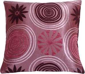 Faria Flower Purple 17x17 Throw Pillow