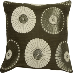 Odyssey Garden Silver 17x17 Throw Pillow
