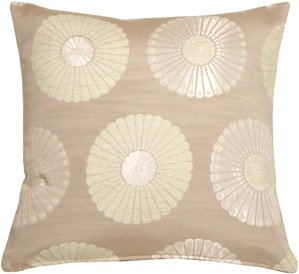 Odyssey Garden Cream 17x17 Throw Pillow
