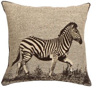 Zebra 17x17 Decorative Pillow