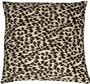 Leopard Print Cotton Large Throw Pillow