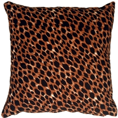 Cheetah Print Cotton Large Throw Pillow