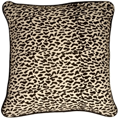 Ocelot Print Cotton Small Throw Pillow