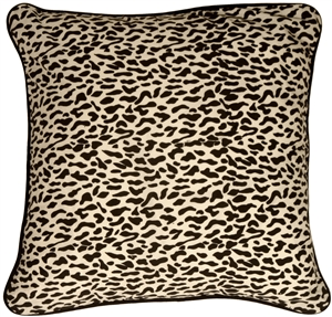 Ocelot Print Cotton Large 22x22 Throw Pillow