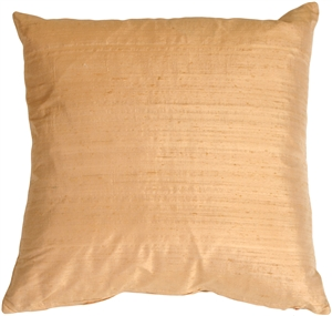 "Dupioni Silk 22"" Apricot Throw Pillow"