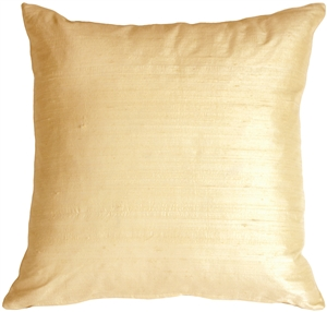 "Dupioni Silk 22"" Peaches and Cream Throw Pillow"