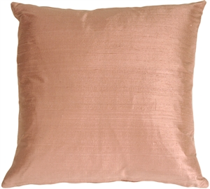"Dupioni Silk 22"" Mauve Berry Throw Pillow"