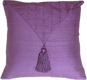 Dupioni Silk Lilac Envelope Throw Pillow