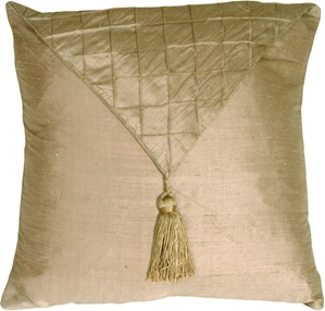 Dupioni Silk Nutmeg Envelope Throw Pillow