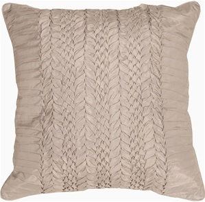 Silver Ruffle Throw Pillow from Pillow Decor