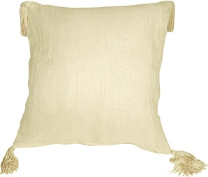 Crinkle Silk in Ivory Throw Pillow from Pillow Decor