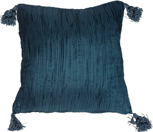 Crinkle Silk in Teal Throw Pillow from Pillow Decor
