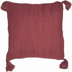 Crinkle Silk in Raspberry Throw Pillow from Pillow Decor
