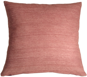 Tussar Silk Raspberry 22x22 Throw Pillow