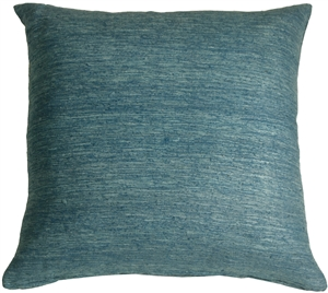 Tussar Silk Teal 22x22 Throw Pillow