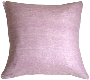 Tussar Silk Violet 22x22 Throw Pillow