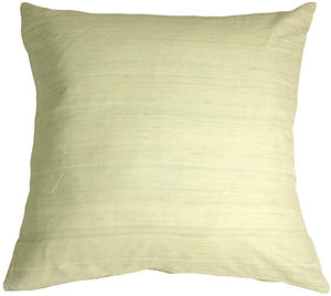 Tussar Silk Mint 22x22 Throw Pillow