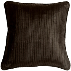 Ribbed Silk Black 22x22 Throw Pillow