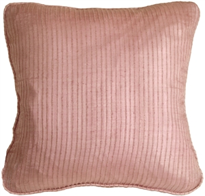 Ribbed Silk Dusty Pink 17x17 Throw Pillow