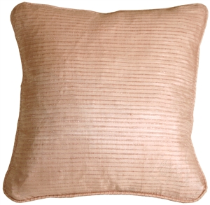 Ribbed Silk Shell Pink 17x17 Throw Pillow