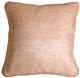 Ribbed Silk Shell Pink 22x22 Throw Pillow