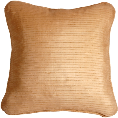 Ribbed Silk Golden Melon 17x17 Throw Pillow