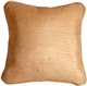 Ribbed Silk Golden Melon 22x22 Throw Pillow