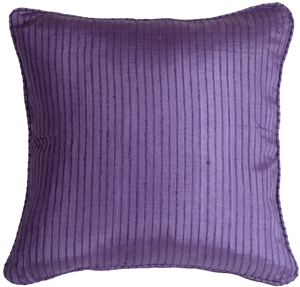 Ribbed Silk Purple17x17 Throw Pillow
