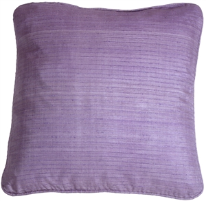 Ribbed Silk Lavender 22x22 Throw Pillow
