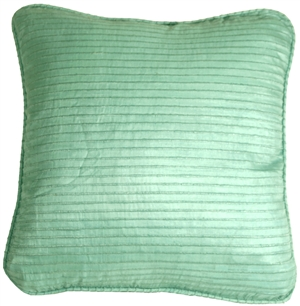 Ribbed Silk Aqua 17x17 Throw Pillow