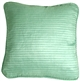 Ribbed Silk Aqua 22x22 Throw Pillow