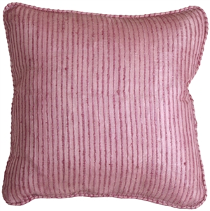 Ribbed Silk Mauve 17x17 Throw Pillow