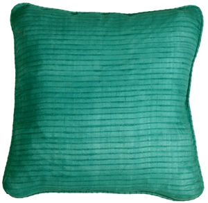 Ribbed Silk Sea Green 17x17 Throw Pillow