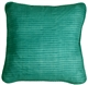 Ribbed Silk Sea Green 22x22 Throw Pillow