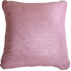 Ribbed Silk Violet 22x22 Throw Pillow
