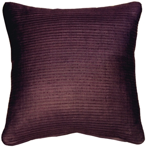 Ribbed Silk Plum Wine 22x22 Throw Pillow