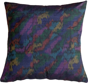 Rainbow Silk 21x21 Throw Pillow