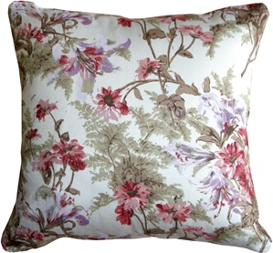 Brookside Garden Rose 17x17 Throw Pillow