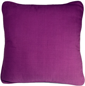 Ribbed Cotton Magenta 18x18 Throw Pillow