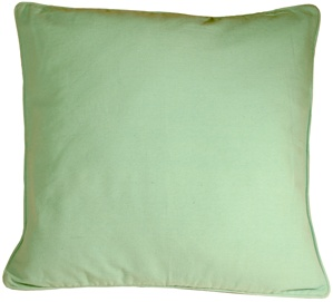 Ribbed Cotton Sea Foam 26x26 Throw Pillow