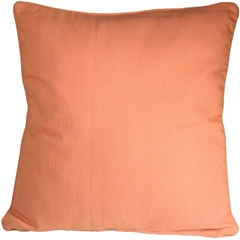 Ribbed Cotton Peach 26x26 Throw Pillow
