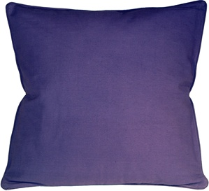 Ribbed Cotton Lilac 26x26 Throw Pillow