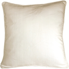 Ribbed Cotton Off White 24x24 Throw Pillow
