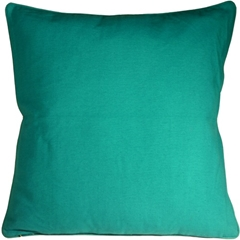 Ribbed Cotton Aquamarine 26x26 Throw Pillow