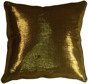 Metallic Gold 17x17 Throw Pillow