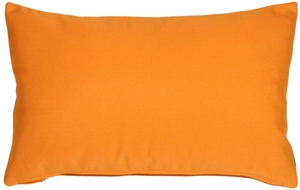 Sunbrella Tangerine Orange 12x20 Outdoor Pillow